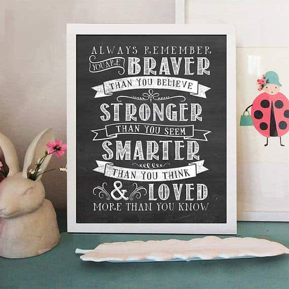 A chalkboard wall art with a beautiful typography.