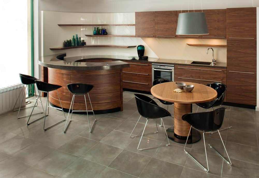 Kitchen with super cool circular shape