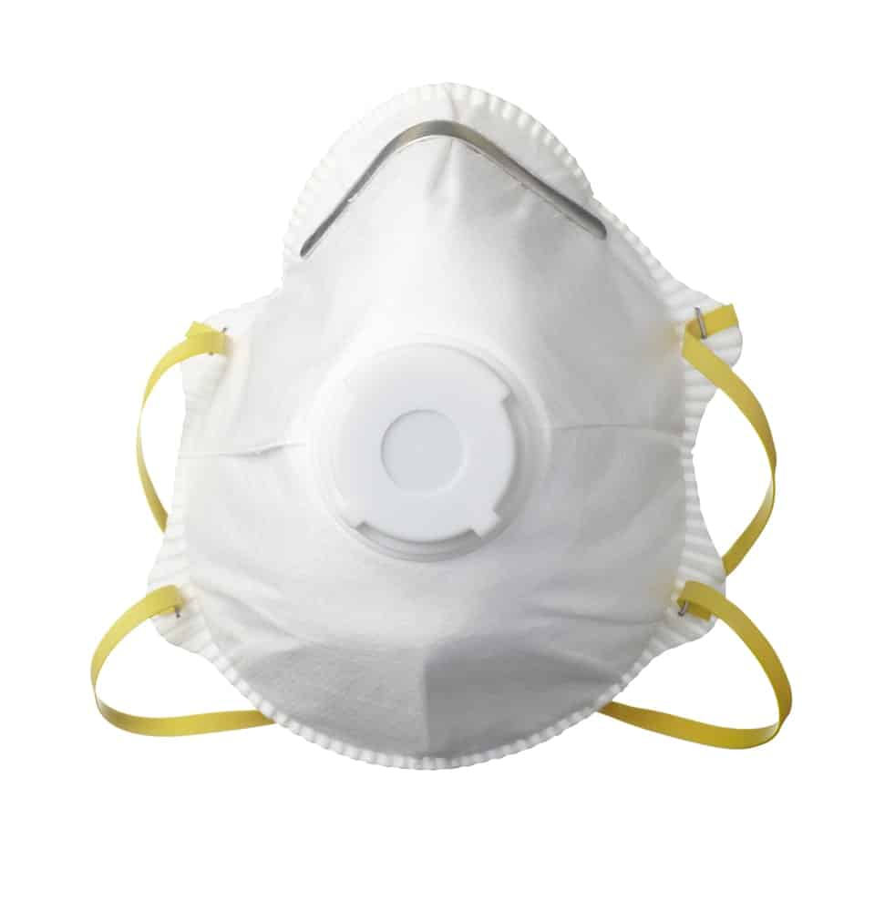 Dust mask on white background.
