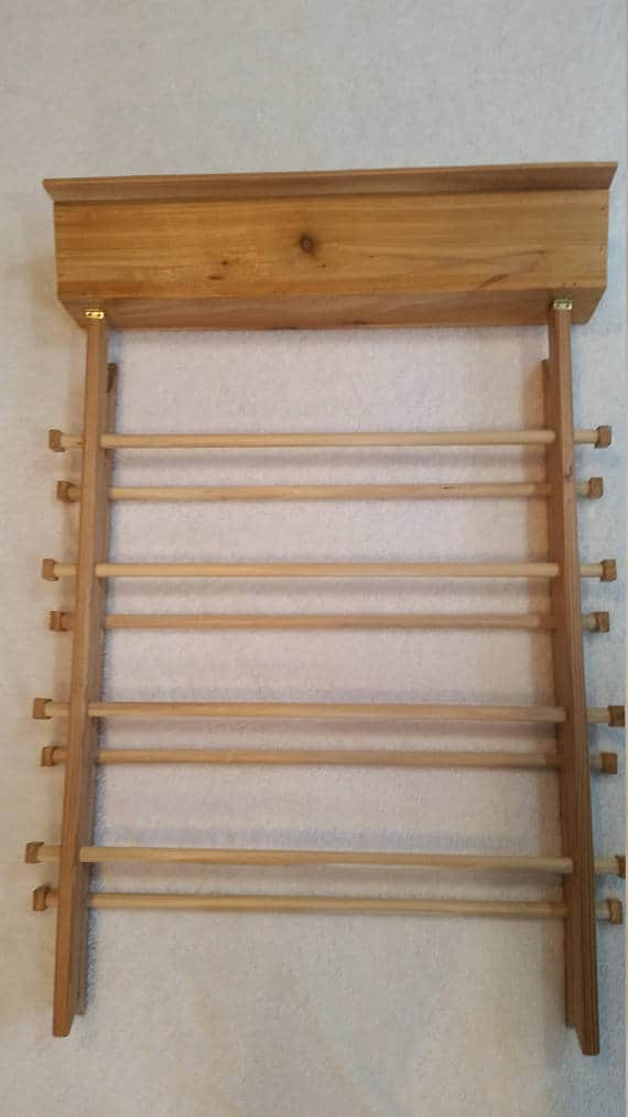 Folding clothing drying rack