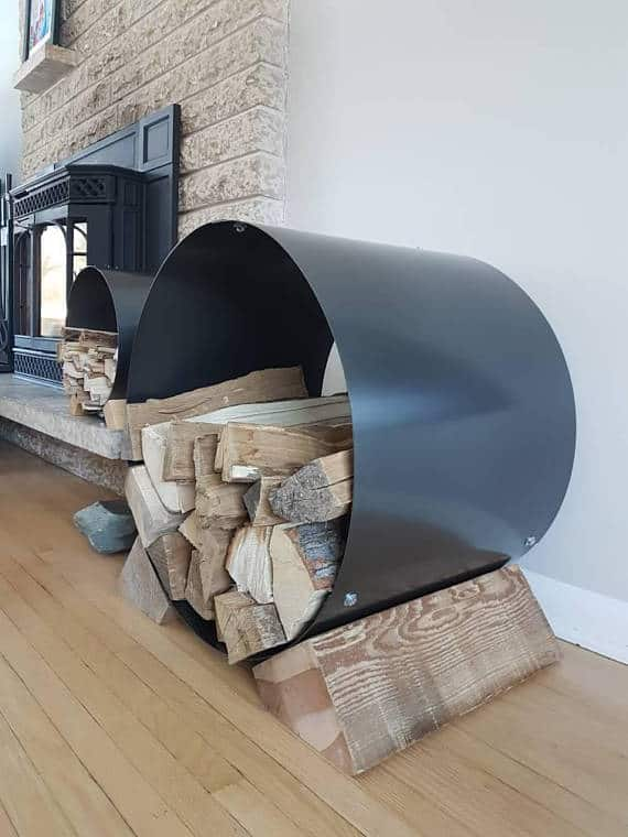 Indoor firewood storage