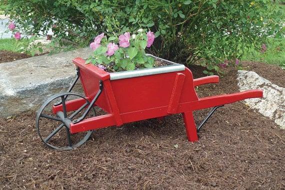 Planter wheelbarrow