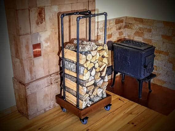 Rolling firewood storage