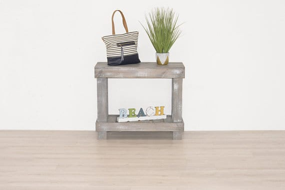 Table for entryway storage
