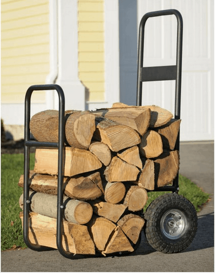 Cart for firewood storage