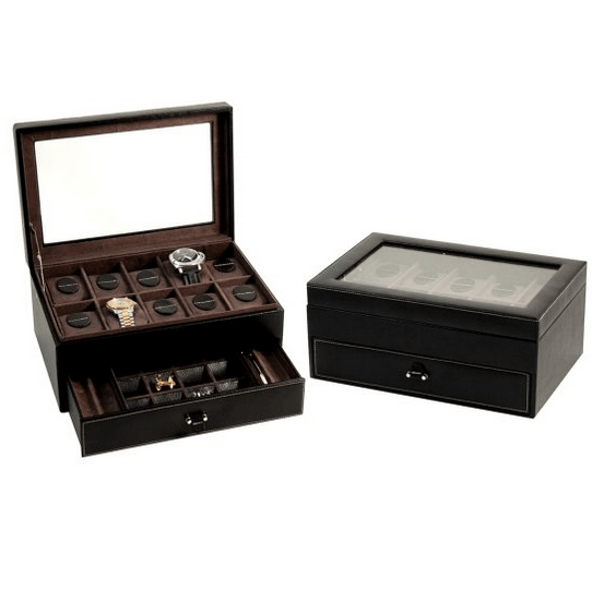 Watch storage made out of leather