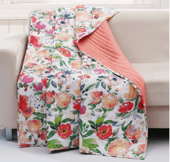 Nature and floral throw