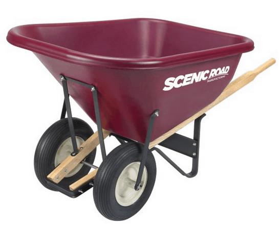 Two-wheeled wheelbarrow