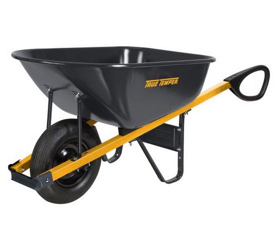 Wheelbarrow with ergonomic handles