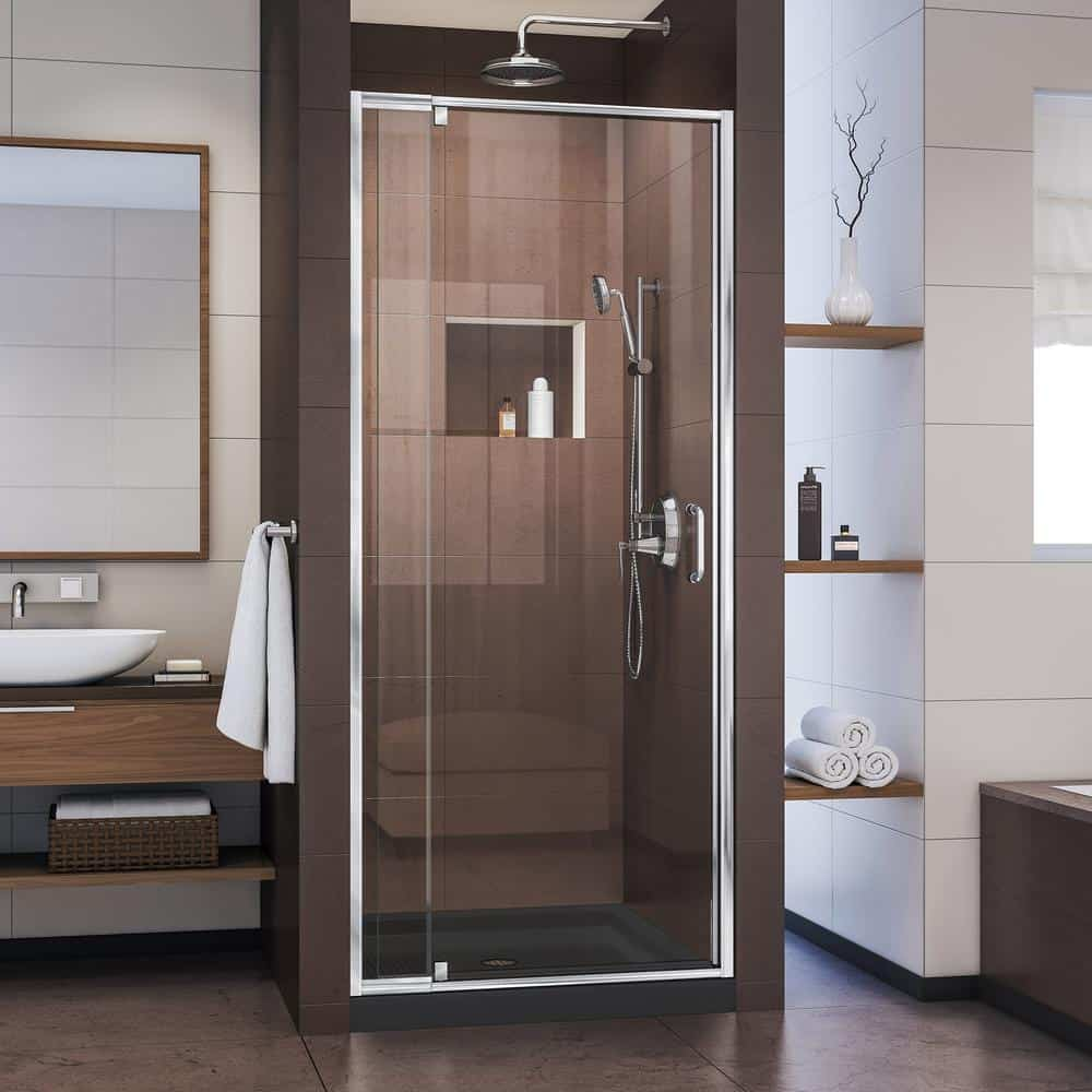 Alcove shower door