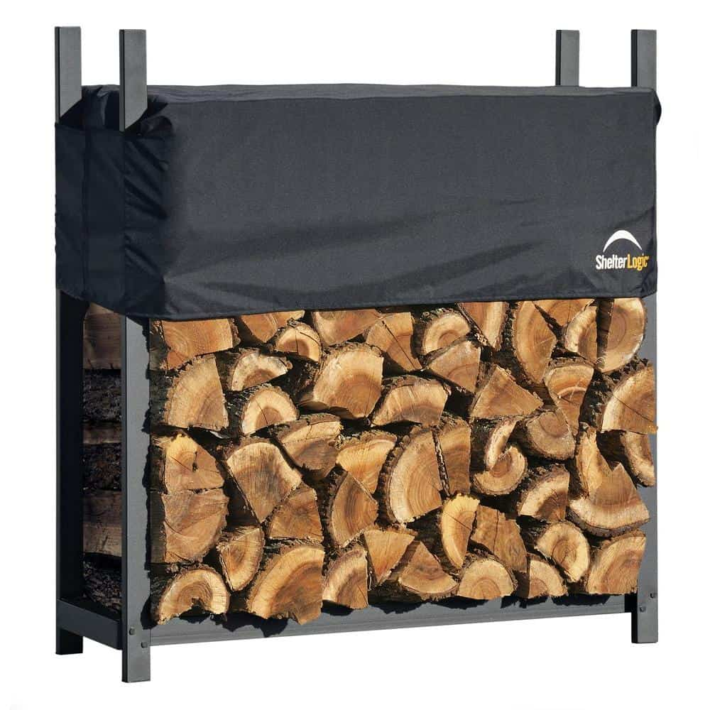 Firewood storage with cover included