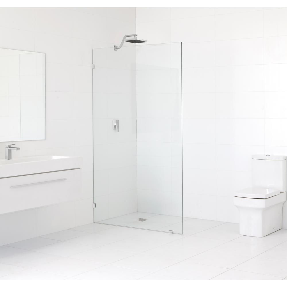 Fixed shower door