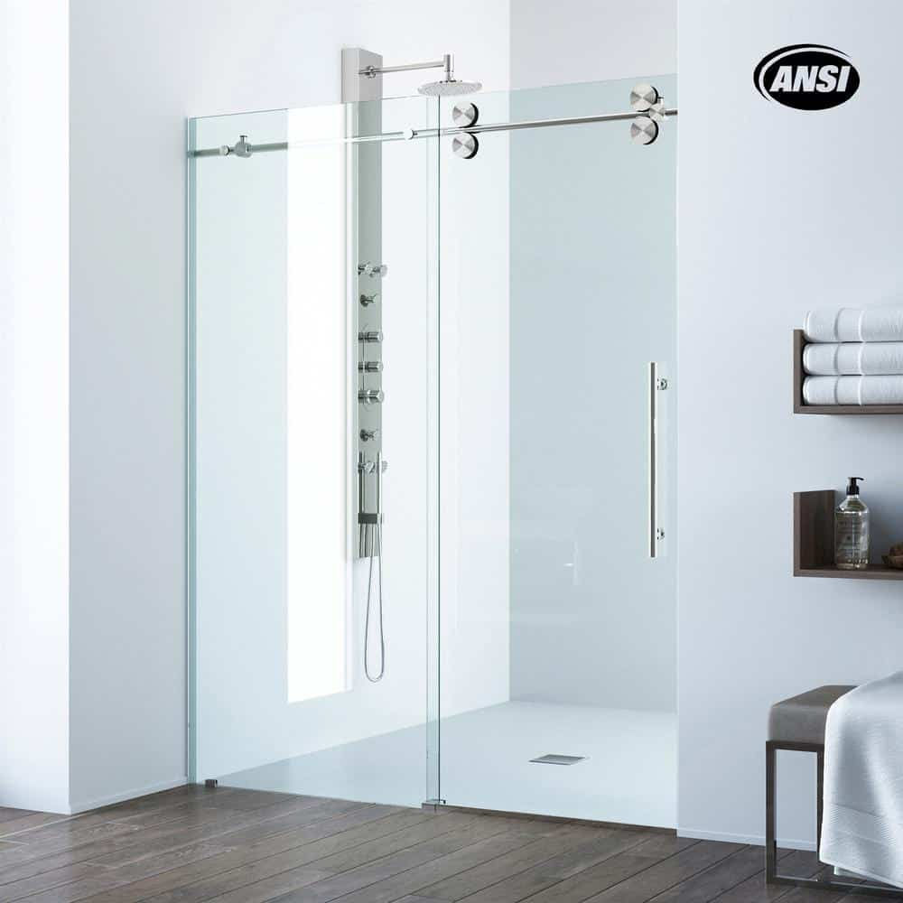 Clear glass-style shower door