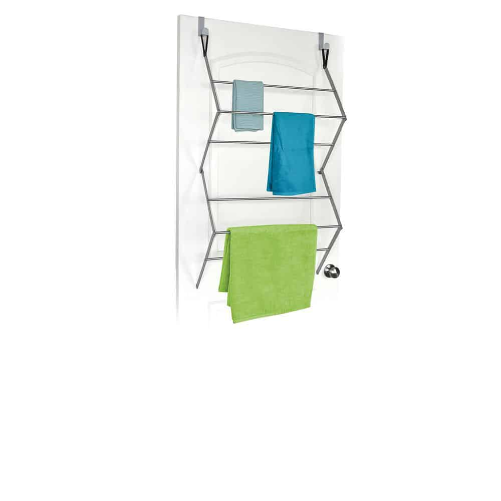 Over-the-door clothing drying rack