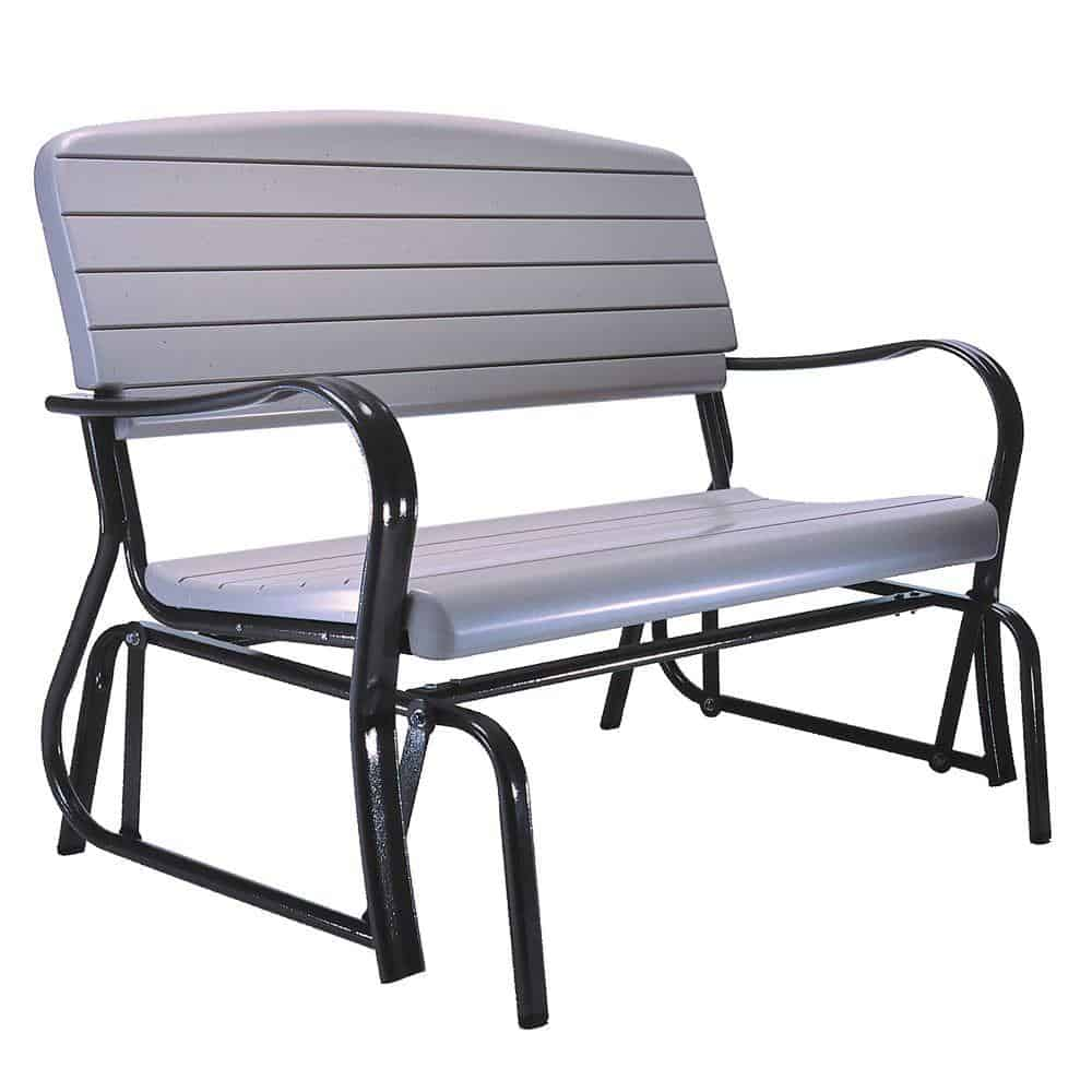 Patio glider bench for tall people