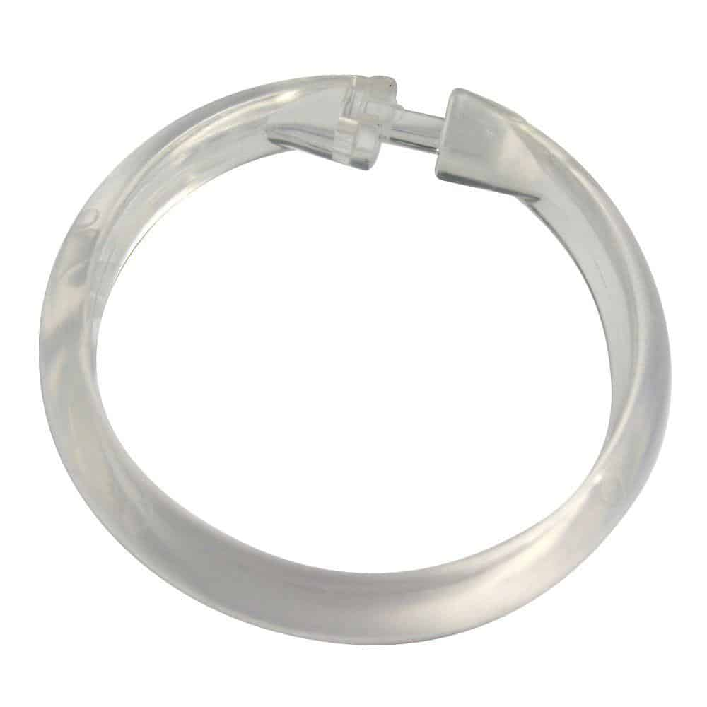 Plastic shower curtain connector
