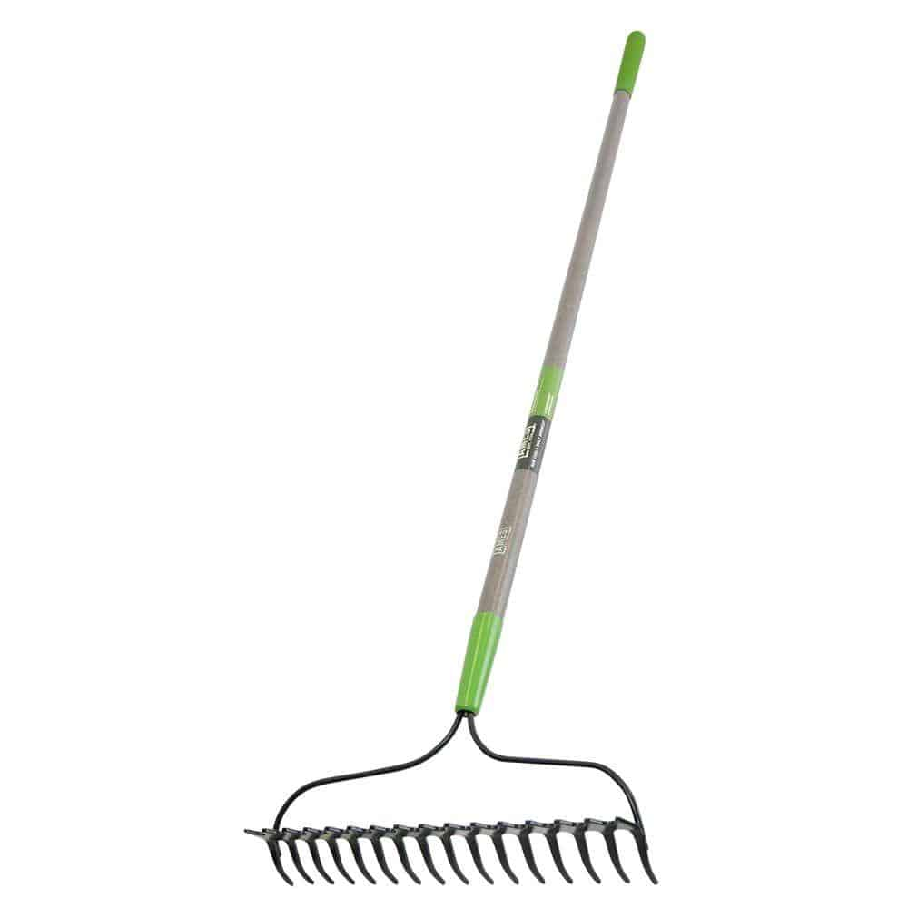 Rake with fiberglass handle