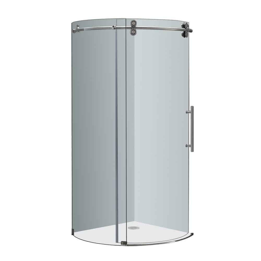 Round shower door