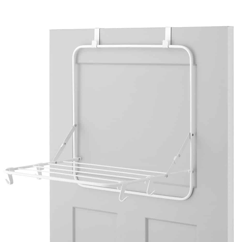 Tilt-out clothing drying rack