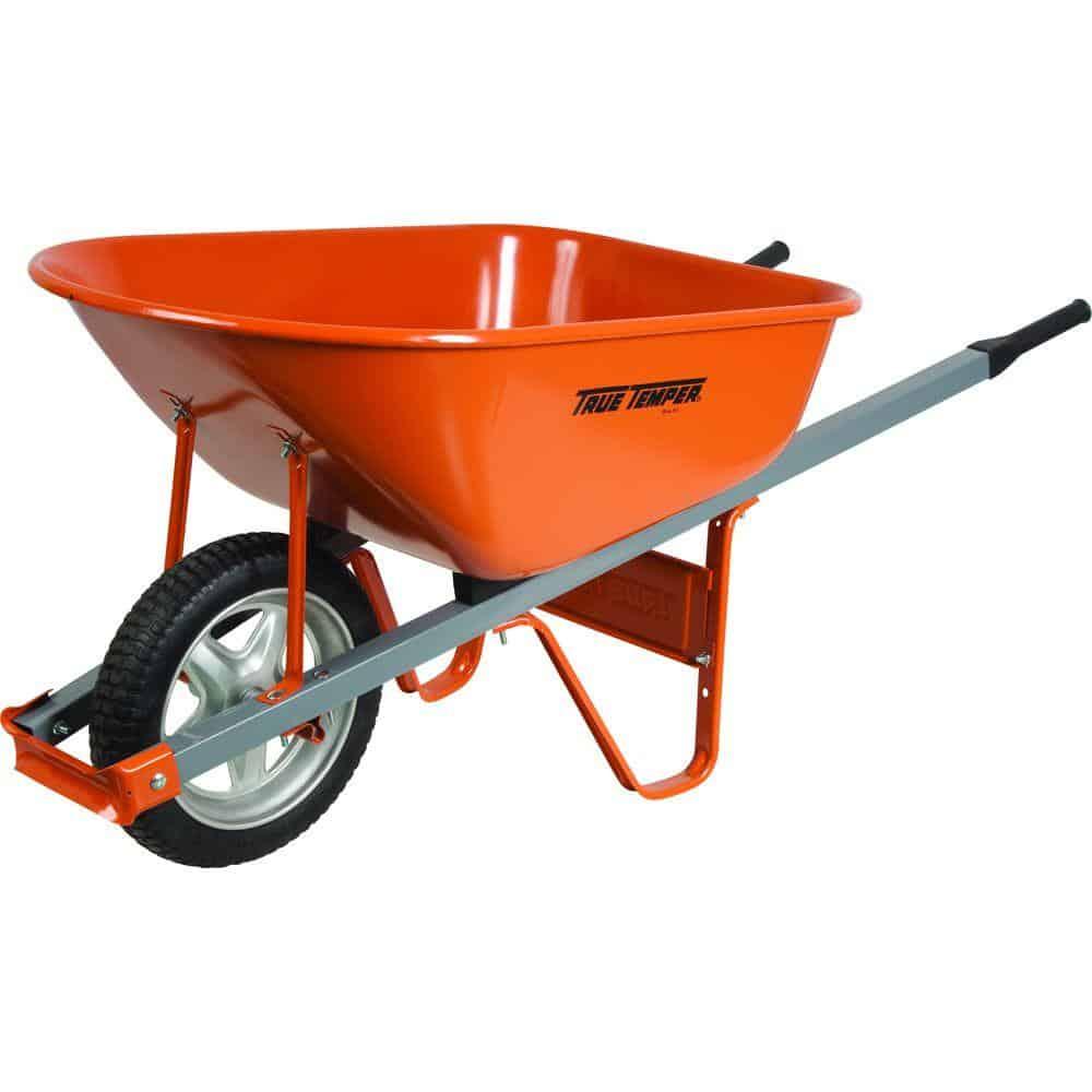 Wheelbarrow with non-slip handles