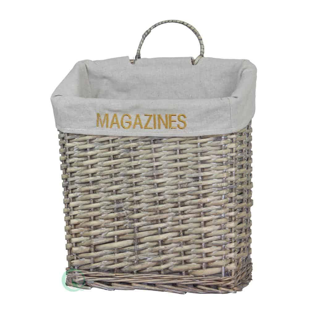 Wicker for magazine storage