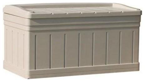 Bench for deck storage
