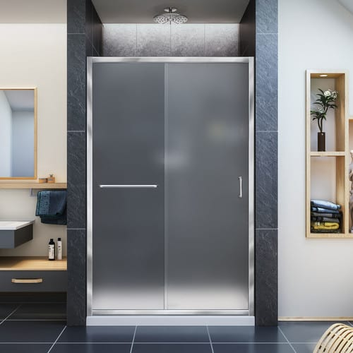 Frosted glass-style shower door