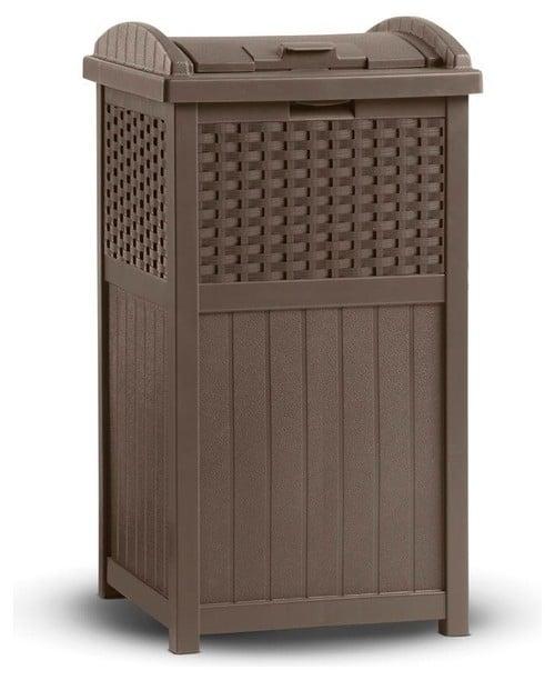 Trash for deck or patio storage