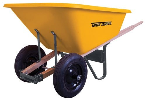 Wheelbarrow with five to eight cubic feet