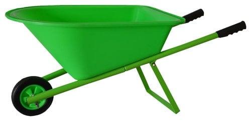 Wheelbarrow with metal handle