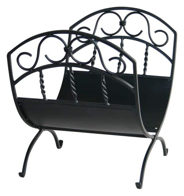 Wrought iron for firewood storage