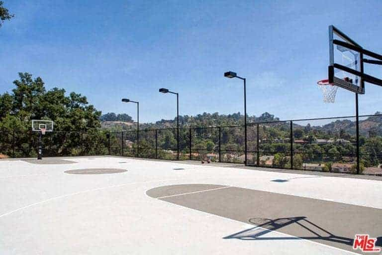 There's a basketball court outside perfect for friendly games with family and friends.