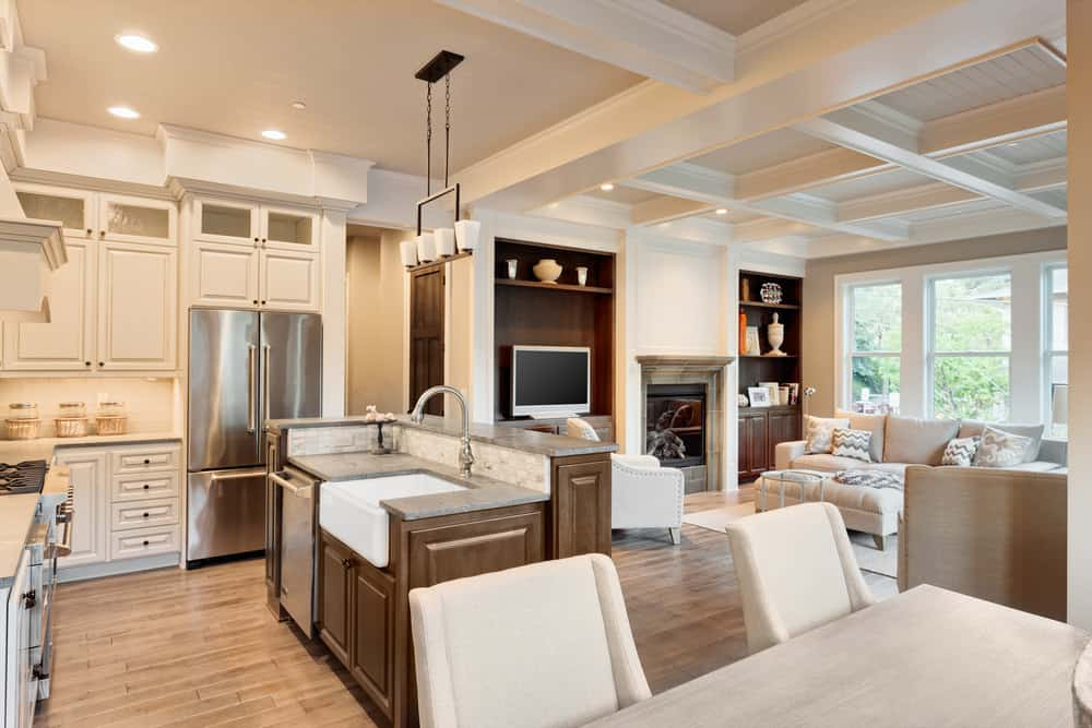 55 open concept kitchen living room and dining room floor - Open concept living room ...
