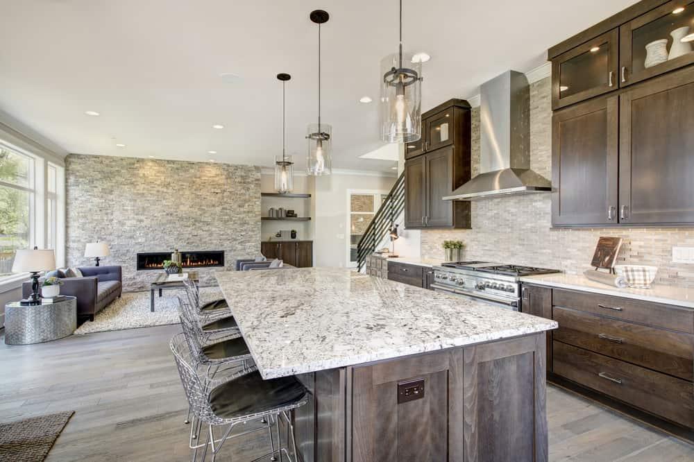 501 custom kitchen ideas for 2018 pictures - Lamparas techos altos ...