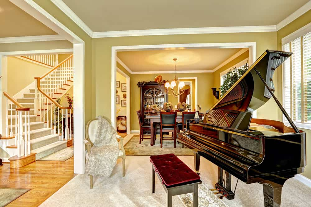 27 Beautiful Living Rooms With A Piano