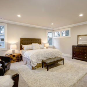 Primary bedroom with a beautiful dresser