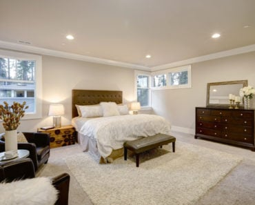 Master bedroom with a beautiful dresser