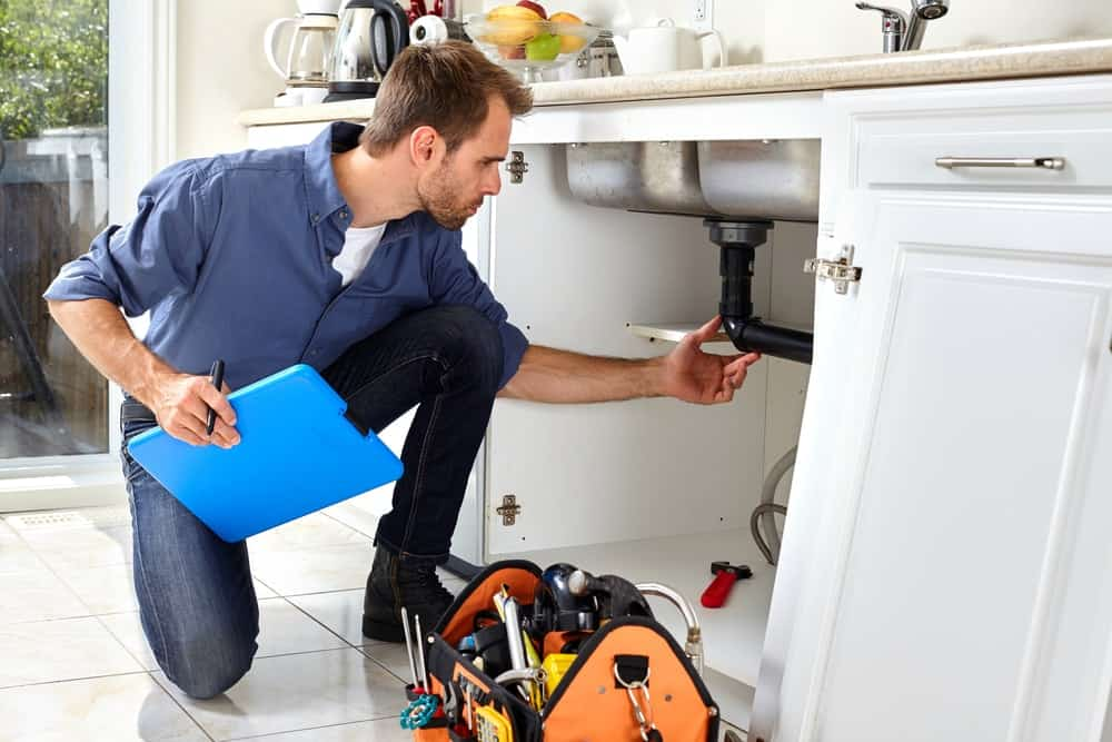 Plumbing inspection.