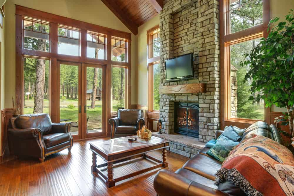 The Rustic Rendezvous Family Room seems like a cottage straight from the Little Red Riding Hood