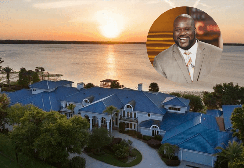 Shaquille O'Neal's Florida estate measures over 30,000 square feet and is worth $28 million.