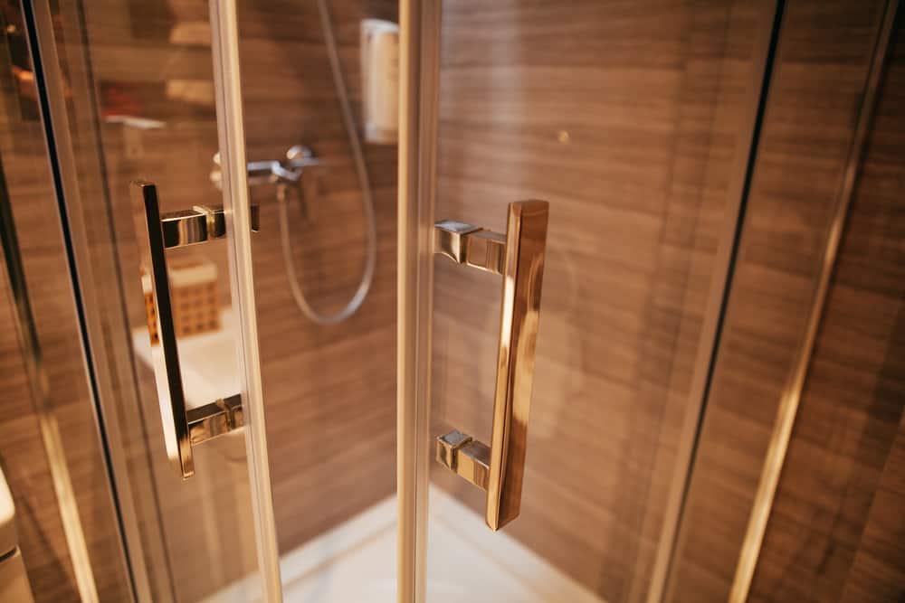Modern shower door.