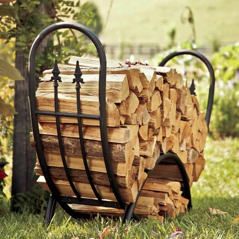 Fire-retardant firewood storage