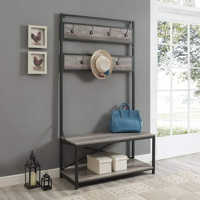 Hall tree for entryway storage