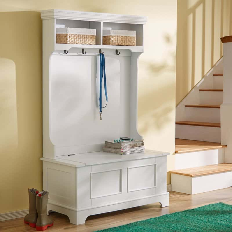 Lift-top entryway storage