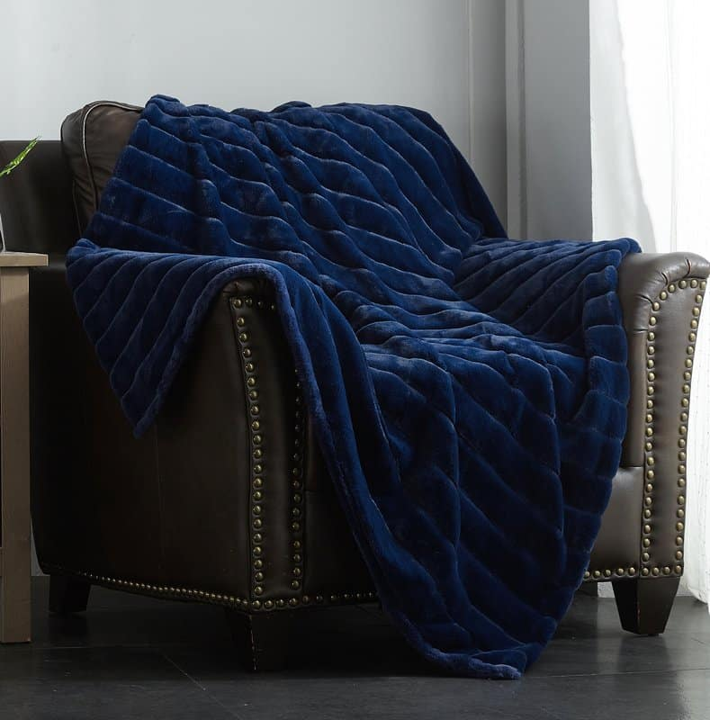 Microsuede quilted throw
