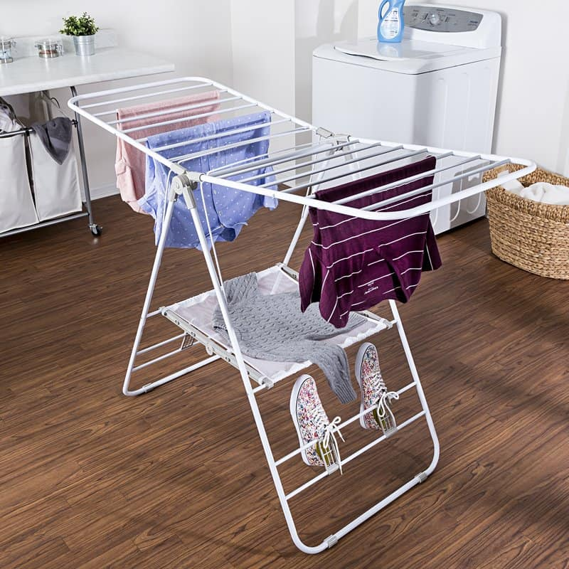 Portable clothing drying rack