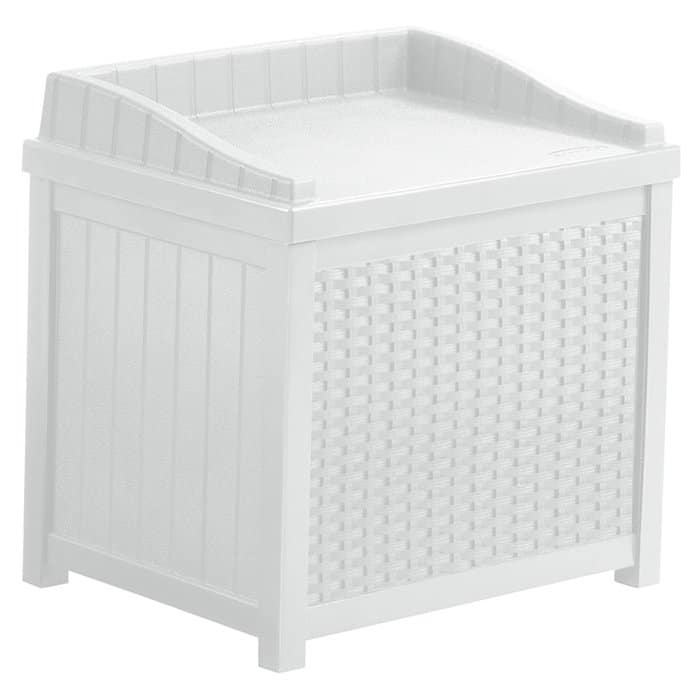 Seat for deck and patio storage