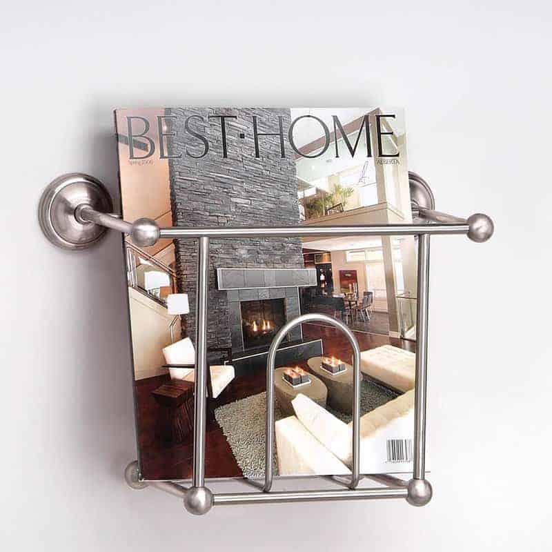 Wall-mounted magazine storage