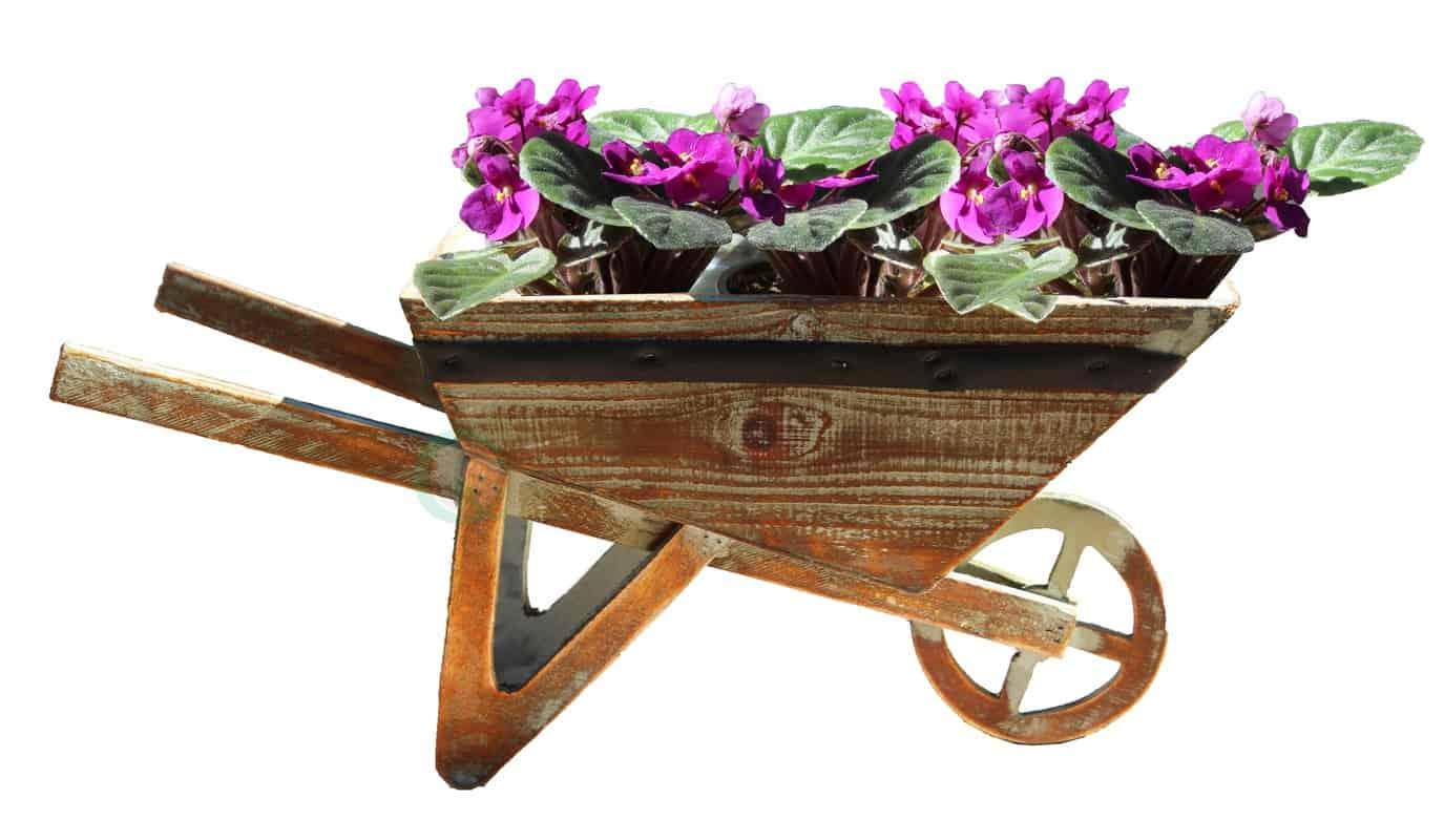 Wheelbarrow with traditional handle