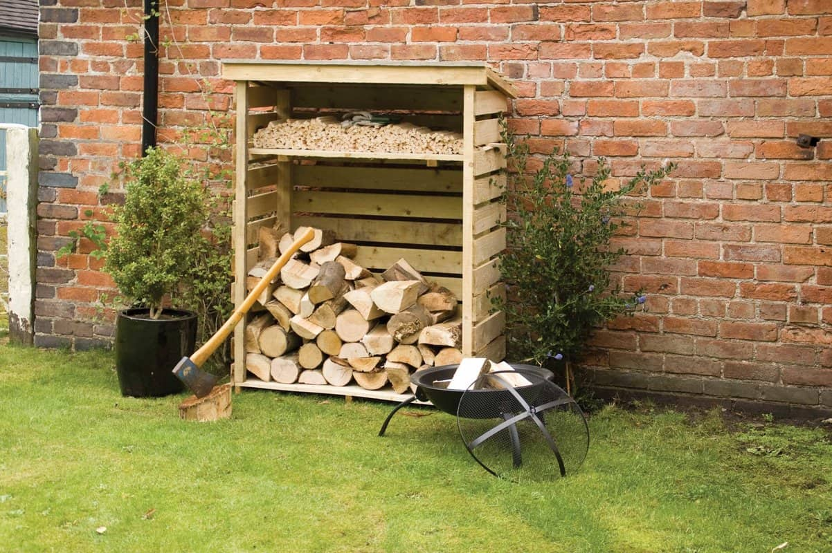 Wood firewood storage